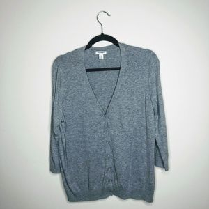 Old Navy Gray Grandfather Button Up Cardigan XL